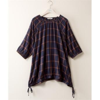 裾ドロスト6分袖ドルマンプルオーバー (大きいサイズレディース)ブラウス,plus size