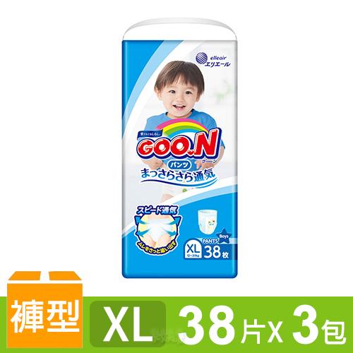 日本大王GOO.N 境內版透氣舒柔褲型尿布-男XL 3包/箱
