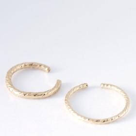 送料無料【14kgf】 三日月 2way イヤーカフ&リング/模様(2つセット) 指輪