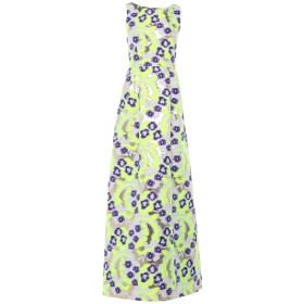 《セール開催中》P.A.R.O.S.H. レディース ロングワンピース&ドレス イエロー S ポリエステル 83% / ナイロン 11% / 指定外繊維 6%