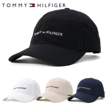 トミーヒルフィガー キャップ 帽子 サイズ調整 HILFIGER LOGO ブラック TOMMY HILFIGER メンズ