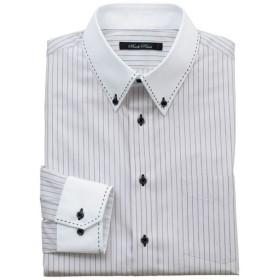 【メンズ】 形態安定デザインYシャツ(ゆったりシルエット) - セシール ■カラー:ライトグレー ■サイズ:39(裄丈78),39(裄丈82),41(裄丈82),43(裄丈82),43(裄丈84),47(裄丈86),50(裄丈88)