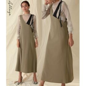 ANAP(アナップ)アシンメ肩紐ジャンパースカート