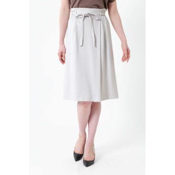 NATURAL BEAUTY ミラノリブリボン付スカート