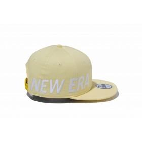 【ニューエラ公式】キッズ 9FIFTY エッセンシャル ソフトイエロー × スノーホワイト 男の子 女の子 49.2 - 53cm キャップ 帽子 12108769 NEW ERA