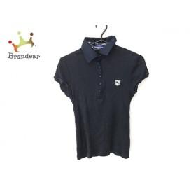 バーバリーブルーレーベル 半袖ポロシャツ サイズ38 M レディース ダークネイビー×白 新着 20190819