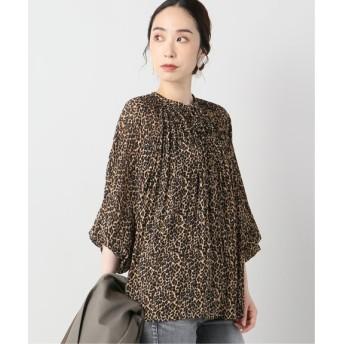 VERMEIL par iena 【LUNE/リュンヌ】Pleated leopard Blouse ブラウン フリー