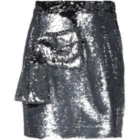 《期間限定 セール開催中》DANIELE CARLOTTA レディース ミニスカート 鉛色 42 ポリエステル 100%