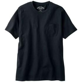 【レディース】 オーガニックコットン100%素材のクルーネックTシャツ(半袖) - セシール ■カラー:ブラック ■サイズ:L,LL,3L,5L,7L,S,M