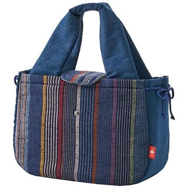 【レディース】 久留米織 和トートバッグ - セシール ■カラー:紺(縦縞)