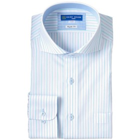 山喜 メンズ 【在庫限り】SHIRT HOUSEレギュラーフィット BLUEレーベル 形態安定デザインシャツ夏長袖