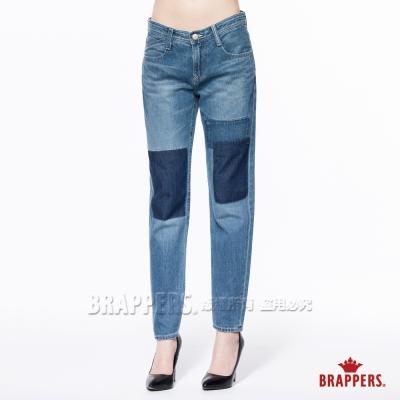 BRAPPERS 女款 Boy Friend Jeans系列-女用八分反摺褲-淺藍
