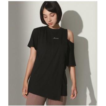 【45%OFF】 アナップ 刺繍ロゴスリットショルダーTシャツ レディース ブラック F 【ANAP】 【タイムセール開催中】