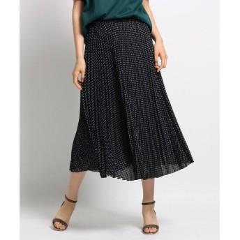 INDIVI / インディヴィ [S]【マシンウォッシュ】ジオメプリーツスカート