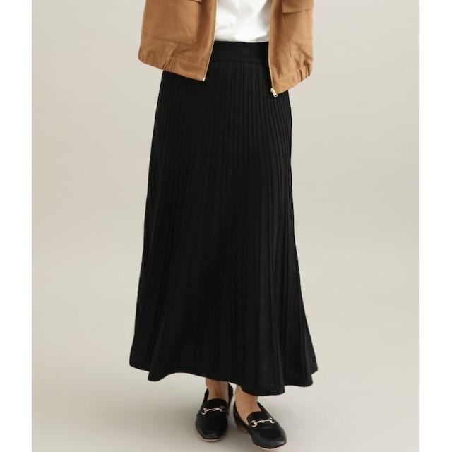 【ビス/ViS】 ラメ入りロングニットスカート