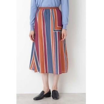 HUMAN WOMAN / コットンシルクアーティパネルプリントスカート