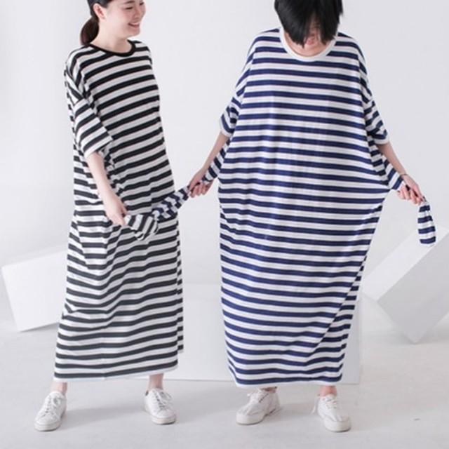 [Vitatha]タウンストアクラシック再出現人形2.0脱獄ウサギコットンストライプ超ロングドレス春と夏のドレス