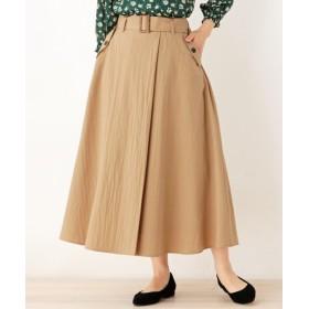 DRESKIP ドレスキップ ラップ風タックデザインスカート
