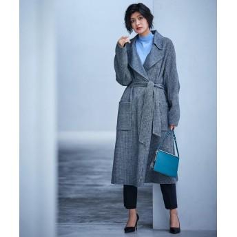 【30%OFF】 ICB Wool Rever トレンチ型コート レディース ブラック系 0 【ICB】 【セール開催中】