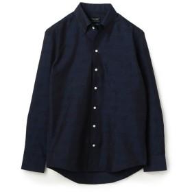 メンズビギ EASY CARE ビッグ千鳥クリスタルシンサーシャツ メンズ ネイビー L 【Men's Bigi】
