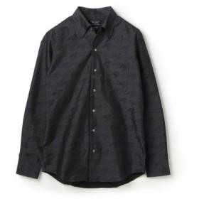 (Men's Bigi/メンズビギ)EASY CARE ビッグ千鳥クリスタルシンサーシャツ【ウォッシャブル加工】/メンズ グレー系その他 送料無料