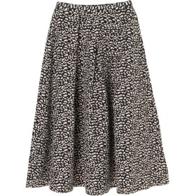 【5,000円以上お買物で送料無料】・K レオパードフレアスカート