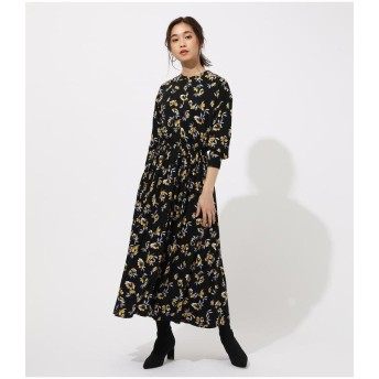 【10%OFF】 アズールバイマウジー FLOWER BROWSING ONEPIECE レディース 柄BLK5 M 【AZUL BY MOUSSY】 【タイムセール開催中】