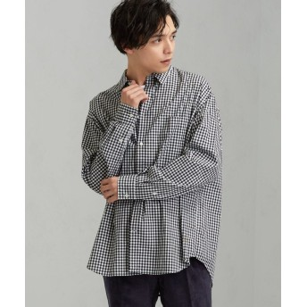 グリーンレーベルリラクシング CM ★★GLR ロゴバギーシャツ # メンズ BLACK XS 【green label relaxing】