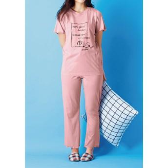 55%OFF【レディース】 パジャマ(CAT HOME) - セシール ■カラー:ピンク ■サイズ:M,L,LL