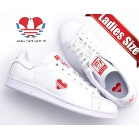【アディダス スタンスミス ウィメンズ】adidas STAN SMITH W ftwwht/actred/ftwht g27893 レディース スニーカー ホワイト レッド ハート