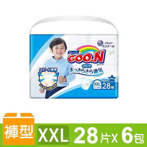 日本大王GOO.N 境內版透氣舒柔褲型尿布-男XXL 6包/箱
