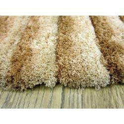 范登伯格-彩之舞燦爛明亮時尚現代勦柔軟立體地毯-08 淺棕 200x290cm