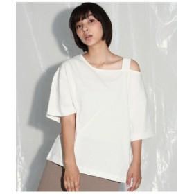 (ANAP/アナップ)アシンメトリーショルダービッグTシャツ/レディース オフホワイト