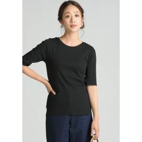 MAYSON GREY 【WEB別注】【socolla】後ろDカンリブプルオーバー Tシャツ・カットソー,ブラック