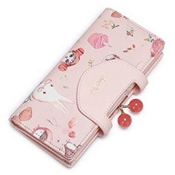 ガールズ 子供用 レディース 長財布 ロングウォレット ラウンドファスナー ウォレット 財布 小銭入れあり 二つ折り コインケース 大容量