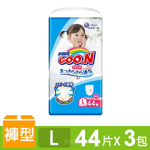 日本大王GOO.N 境內版透氣舒柔褲型尿布-女L 3包/箱