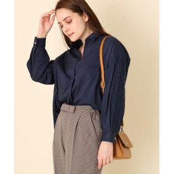 Couture Brooch(クチュールブローチ) 【WEB限定サイズ(LL)あり/手洗い可】カットワークスリーブ前後差シャツ