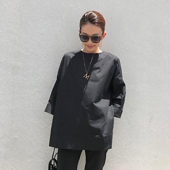 <tinoir> バックリボンスモックシャツ(スモールサイズ) black 【三越・伊勢丹/公式】
