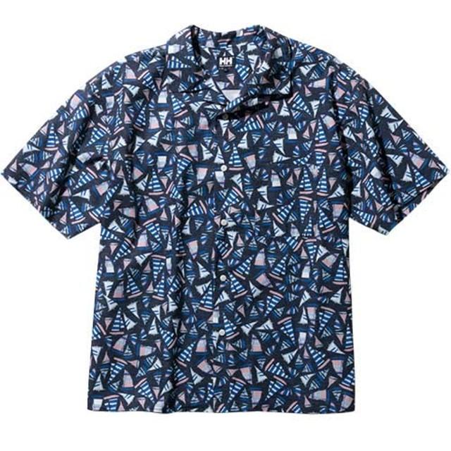 ヘリーハンセン(HELLY HANSEN) S/S ヨットプリントシャツ(S/S Yacht Print Shirt) HE41910 HB ヘリーブルー L