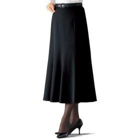 ベルーナ フォーマル対応フレアースカート 総丈73cm 黒 M レディース