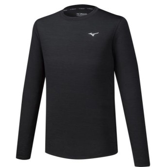 MIZUNO SHOP [ミズノ公式オンラインショップ] ランニングTシャツ(長袖)[メンズ] 09 ブラック J2MA9520