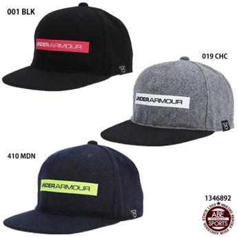 【アンダーアーマー】UA Wool Flatblim cap メンズキャップ/野球帽子/フラットブリムキャップ/UNDER ARMOUR (1346892)