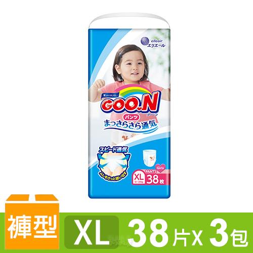 日本大王GOO.N 境內版透氣舒柔褲型尿布-女XL 3包/箱