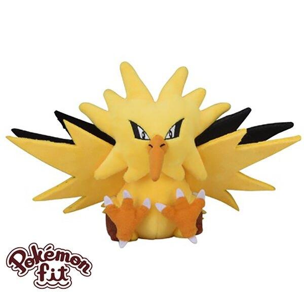 閃電鳥 絨毛玩偶 娃娃 Pokemon Fit 寶可夢 神奇寶貝 日本正品 該該貝比日本精品