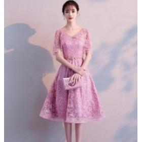 5色入発表會 同窓會 花嫁 ワンピ 女性 素敵 ブライダル 成人式 Aライン ウェディングドレス ワンピース 大きいサイズ 綺
