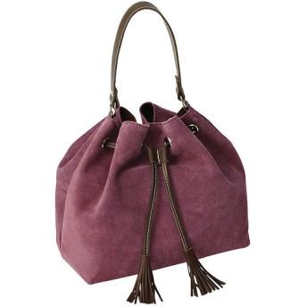 ワコール ラブボディ レザーベロアの巾着バッグ PU