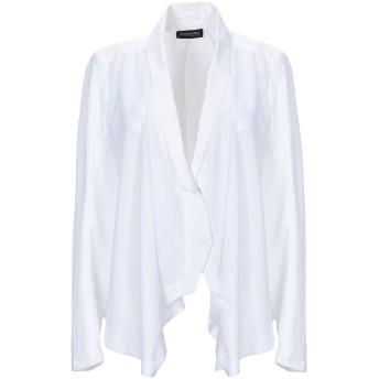 《期間限定セール開催中!》PATRIZIA PEPE レディース テーラードジャケット ホワイト 42 コットン 97% / ポリウレタン 3% / ポリエステル