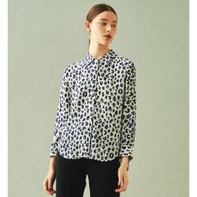 【トゥモローランド/TOMORROWLAND】 シルクレオパードプリント レギュラーシャツ