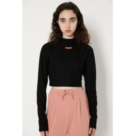 (MOUSSY/マウジー)SW COMPACT CROP L/S トップス/レディース BLK