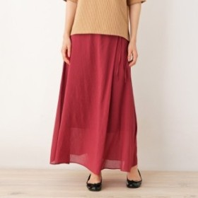 ピンクアドベ(pink adobe)/ボイルラップ風スカート